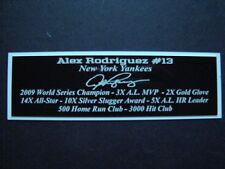 Alex Rodriguez Autograph Nameplate New York Yankees Autograph Jersey Ball Photo