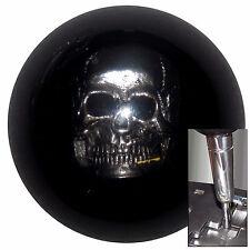 Black Skull shift knob for Dodge Chrys Jeep auto stick w/ adapter