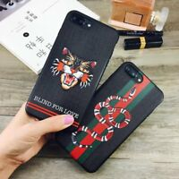Snake Tiger 3D Emboss TPU Slim Cell Case Cover For iPhone XS Max XR 6s 7 8 Plus