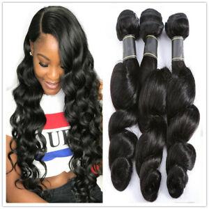 150g /3bundles Malaysia Virgin Hair Loose Wave Color #B 100% Human Hair Bundles