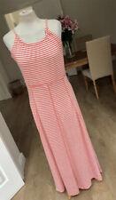 ESMARA Red & white striped long maxi dress - Size 14/16