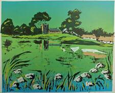 MARGARET E. Z. LEVINSON Signed Screenprint SHAPWICK SOMERSET - 20TH CENTURY