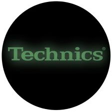 Technics Classic Glow in the Dark Logo on Black Slipmats - 2 Slipmats from DMC