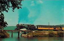 Steamtown Usa Monadnoc Northern Rail Trains Locomotive Todd's Pond Nh PostCard