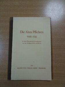 Die alten Pflichten von 1723 Freimaurer Freimaurerei Loge Großloge 1982 Buch