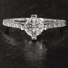 VINTAGE FILIGREE ENGRAVED SEMI MOUNT 6MM 6.5MM ROUND SETTING 1CT DIAMOND RING 14