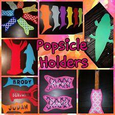 Green shark Popsicle Holder  Ice Pop Sleeves Freezer Cover