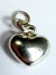 """LARGE SOLID GENUINE """"LINKS OF LONDON"""" SILVER PUFFED HEART CHARM PENDANT Bracelet"""