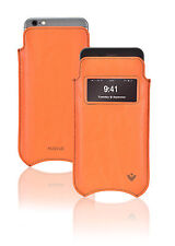 Para Apple iPhone 6/6s Case Orange Vegano nuevue Pantalla Limpieza Ventana De Manga