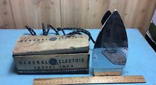 VINTAGE GE GENERAL ELECTRIC TRAVEL IRON 139F18 WITH ORIGINAL BOX
