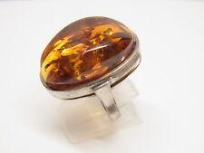 Baltic Amber Inklusen Ring Gr.55  Bernstein  Silber Honigbernstein Nr.19