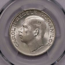 PCGS-MS64 1935 ROMANIA 250LEI  SILVER POP TOP