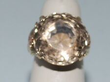 14k Gold ring with Smoky Quartz gemstone