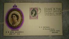 Malaya Terengganu Trengganu FDC 1953 QE Queen Elizabeth II Coronation Singapore