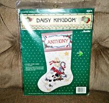 Daisy Kingdom HOLIDAY HUNNY BUNNY Cross Stitch Stocking Kit 82876 1991 Sealed