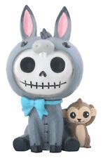Furry Bones Quixote the Donkey Figurine, Skeleton in Costume, Nib