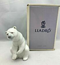 """Lladro #1208 Polar Bear J. Huerta 1972 w/ Original Box 4.75"""" Tall"""