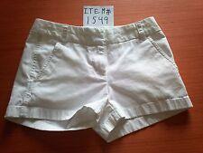 J.CREW CHINO WHITE SHORTS SIZE 00 ITEM # 1549