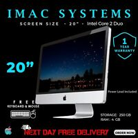 "APPLE IMAC A1224 20"" INTEL CORE 2 DUO 4GB RAM-250GB HDD WEBCAM DVD NEXT DAY POST"