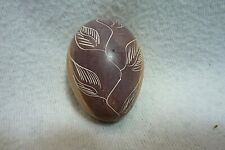 Vintage Hand Carved Stone Egg, Made In Kenya