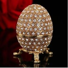 Metal Gold Stone Easter Egg and Faberge Egg Crafts Ornaments New