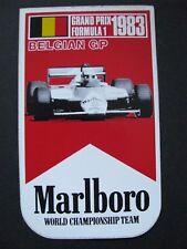 Autocollant Grand Prix F1 – 1983 - Malboro