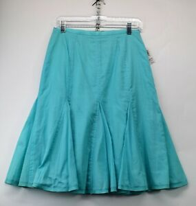 Harolds Womens Size 2 Teal Blue Lined Flair Skirt NEW  (F3)