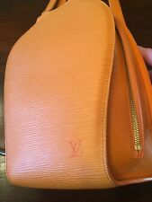 Authentic Louis Vuitton Epi Mabillon Backpack Handbag Mandarin