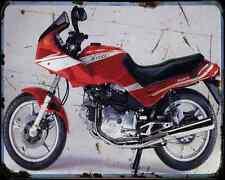 CAGIVA alzzurra 650 GT 85 A4 de Metal Sign moto antigua añejada De