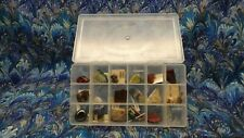 LOT Assorted Mix Bulk Semi Precious Gemstones With Container VERY NICE