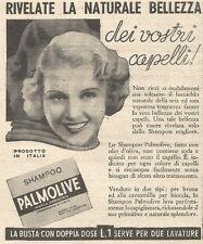 Y3014 Shampoo PALMOLIVE - Rivelate la naturale... - Pubblicità del 1939 - Old ad