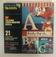 GAF Learning Is Fun Series The A B C's Talking View Master 3 Reels & Booklet