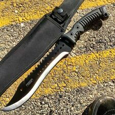 16 Inch Knife Hunting Fixed Blade Survival Sheath Tactical Bowie W Full Tang