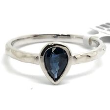 14K White Gold Natural Sapphire Ring. September Birthstone