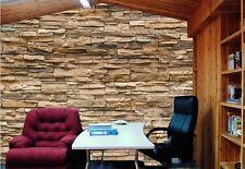 3D Bedroom Mural Roll Modern Stone Brick Wall Background Textured Art Wallpaper