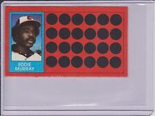 1981 TOPPS SCRATCH OFF EDDIE MURRAY CARD #9 ~ L@@K!!!