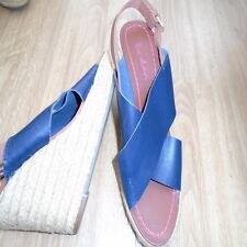 BODEN wedges size 4==37 STRAPY LEATHER HOLIDAY WEDGES  BNWOB