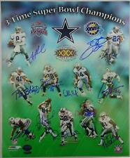 Dallas Cowboys Super Bowl Champions Autographed 16x20 Photo TriStar 7780436