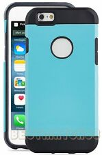 for iPhone 6 4.7 inch phone dual layer black turquoise hybrid soft hard case