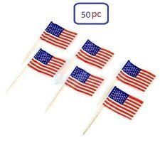 50 Cupcake Picks Cake Toppers Decor USA American Flag Party Supplies Decora