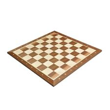 """Walnut & Maple Wooden Chess Board - 2.0"""" With Notation"""