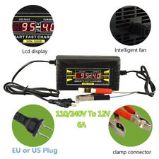 Automatic Smart Fast 12V 6A Lead Acid Battery Charger For Car Motorcycle US plug