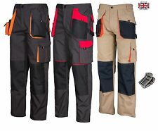 Work Trousers Mens Cargo Combat Style Heavy Duty Knee pads pockets