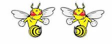 2x Bee angry 1 Sticker Printed Car Truck 2nd Amendment  Tuning
