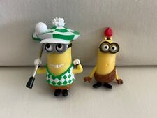 Pair Despicable Me Minion Figurines Golfer Caveman