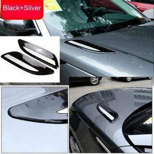 Hood Air Outlet Vent Cover For Land Rover Range Rover Velar 2017-19 Black+Silver