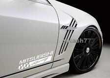 2 - MITSUBISHI RACING SPORT Motorsport Vinyl Decal sticker emblem logo WHITE