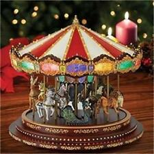 Mr. Christmas MARQUEE DELUXE CAROUSEL Music Box NEW