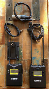 Sony UHF Wireless Set-UTX-B03 Belt Pack, URX-P03 Receiver, Lavalier