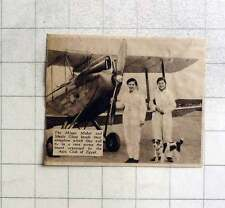 1937 Mabel And Sheila Glass With Aeroplane To Fly Egyptian Desert Race